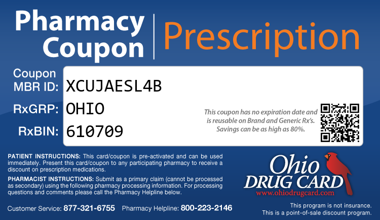 Ohio Drug Card - Free Prescription Drug Coupon Card